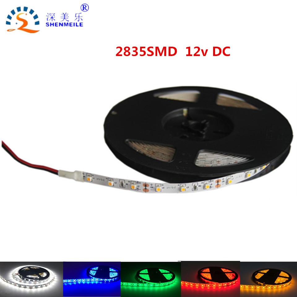 5M/Roll 60les/m Ultra Bright LED Strip Light SMD2835 12V DC pull LED Reel Light 2835 Diode Tape LED Strip Light Ribbon Flexible(China (Mainland))