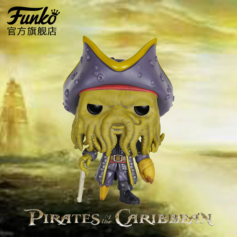 Funko Pop 1Pcs Pirates Of The Caribbean Captain Jack Sparrow Davy Jones Anime Action Figure With Original Box For Brinquedos(China (Mainland))