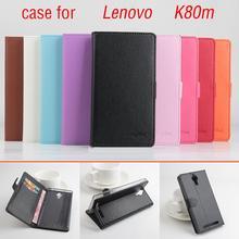 Litchi Lenovo K80m case cover, Good Quality New Leather Case + hard Back cover For Lenovo K80m K80 m Cellphone Phone Case