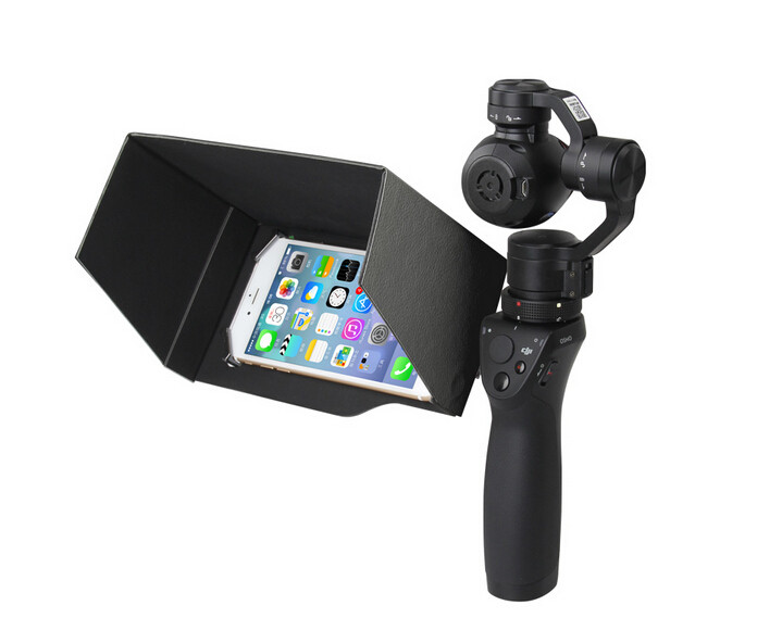 New Updated DJI Osmo Handheld 3-Axis Gimbal Accessories 5.5 Inch Foldable Mobile Phone Sunshade Sun Hood Black