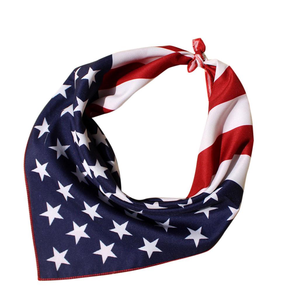 USA AMERICAN STARS /& STRIPES COTTON BANDANA HEAD BAND HAIR NECK SCARF RETRO 50s