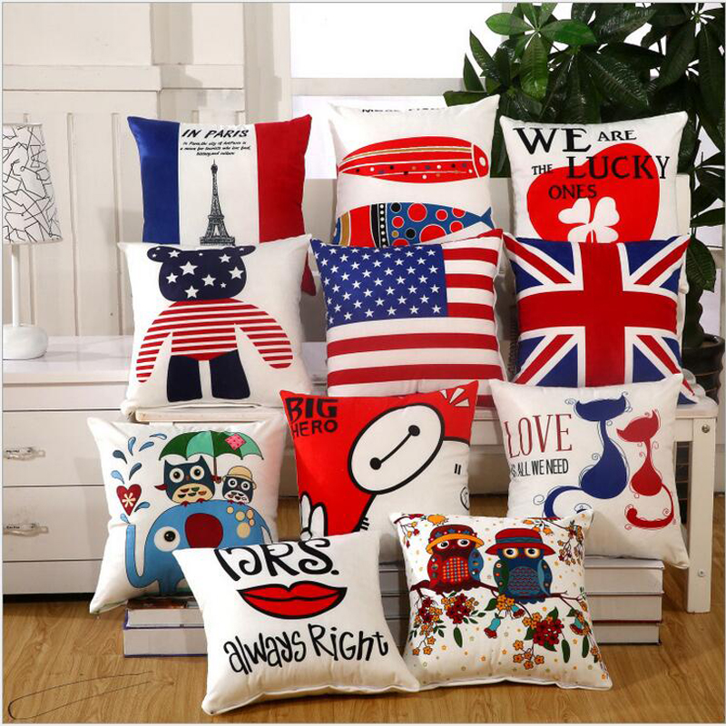 Vintage European home Decor Soft & comfortable Cushions cute emoji Pillows lumbar cotton Embroidery pillow back cushion gift(China (Mainland))