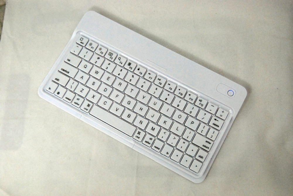White Slim Bluetooth Wireless Keyboard for PC Macbook Mac ipad iphone Dell Venue 8 Pro / Microsoft Surface Win tablet(China (Mainland))