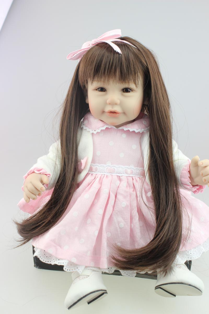 Фотография 20inch 52cm Silicone baby reborn dolls, lifelike doll reborn babies toys for girl princess gift brinquedos Children