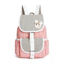 2016 Canvas Backpacks Polka Dot Printing Women School Backpacks for Teenage Girls Student School Bags Bolsas Mochilas Femininas(China (Mainland))