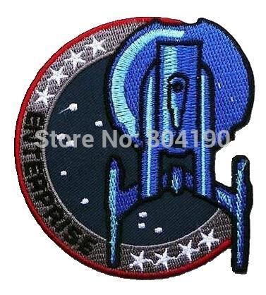 "3.5"" STAR TREK ""ENTERPRISE"" INSIGNIA SHOULDER PROP TV Movie Series applique iron on patch badge costume Uniform LOGO Wholesale(China (Mainland))"