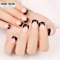 24pcs set Short False Nail For Daily Use Classical French Nail Art Tips Fake Nails With