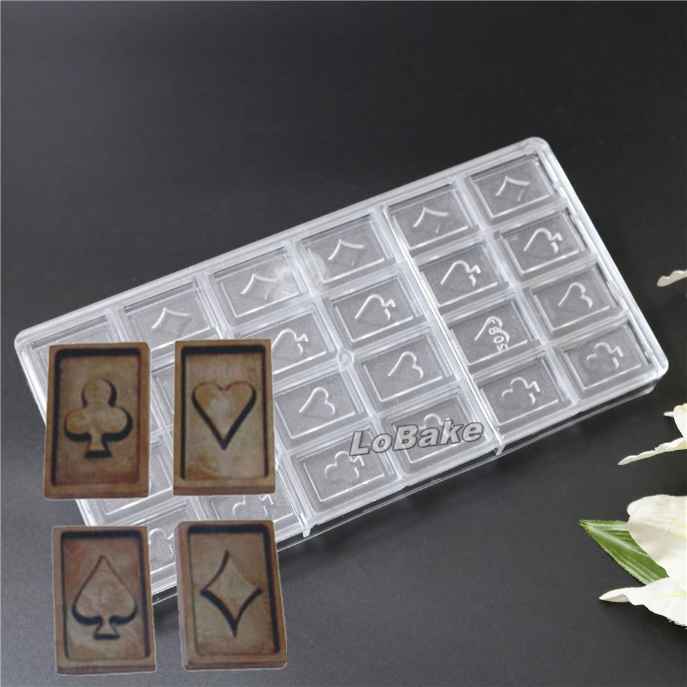 Poker chip candy molds