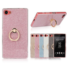 Buy Phone Stand Holder Bling Transparent Soft TPU Case Glitter Paper Metal Holder Back Cover Sony Xperia Z5mini Z5 Compact Z1 C3 for $2.19 in AliExpress store