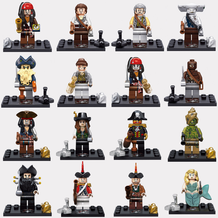 Pirates of the Caribbean Series 8 Pcs/Set Minifigures Building Block Toys New Kids Gift Compatible With Lego Children DIY Toys