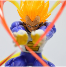 Anime Dragon Ball Z Super Saiyan Vegeta Battle State Final Flash PVC Action Figure Toy 15CM