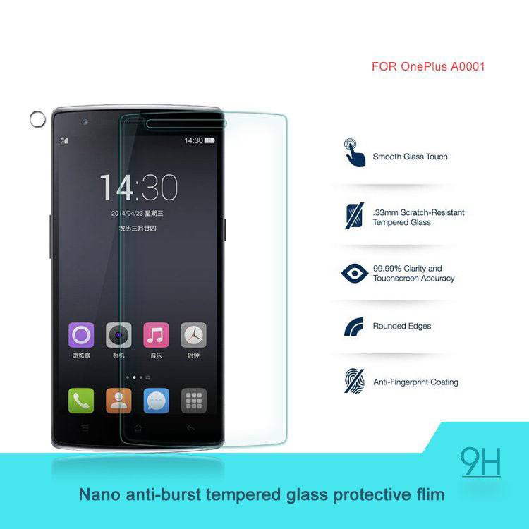 Original Oneplus one Screen Protector Oneplus one Tempered Glass for Oneplus One Plus one1+1 OPO Phone free gift carton box send()