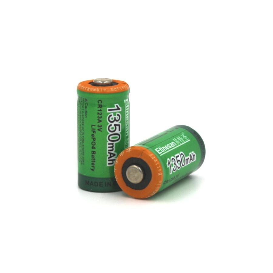 2pcs/lot Etinesan 1350mah Cr123a 3V LiFePO4 lithium rechargeable battery cr123a 3.0v 16340 camera flashlight battery(China (Mainland))