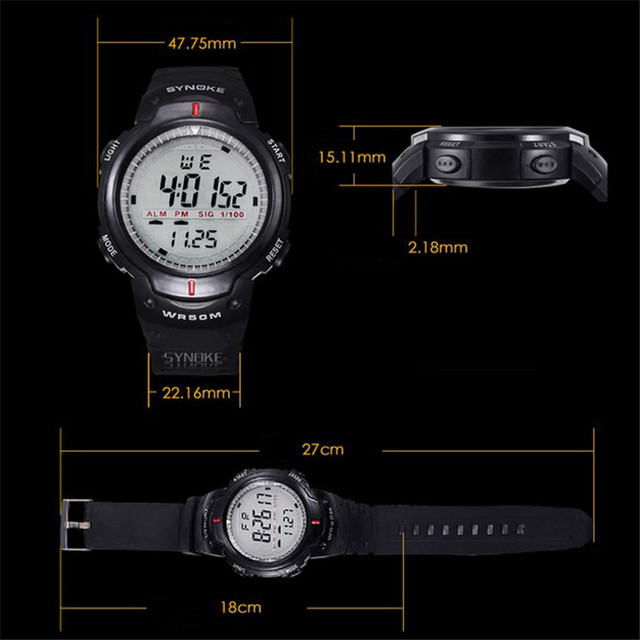 Sport Digital Watch 50M Waterproof