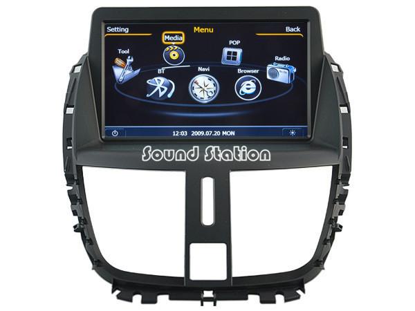 For Peugeot 207 Car CD DVD GPS Navigation Navigator Media Center Stereo Radio Audio Video Central Multimedia Multimidia HeadUnit(China (Mainland))