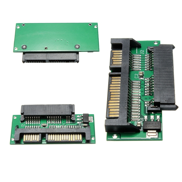 Standard 2.5 inch 1.8 Micro TO 7+15 SATA MSATA universal Adapter Converter Card Connector Plated Board Assembly Part Accessories(China (Mainland))