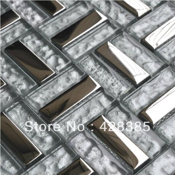 tiles metal mosaic tiles wall tiles kitchen backsplash flooring tiles