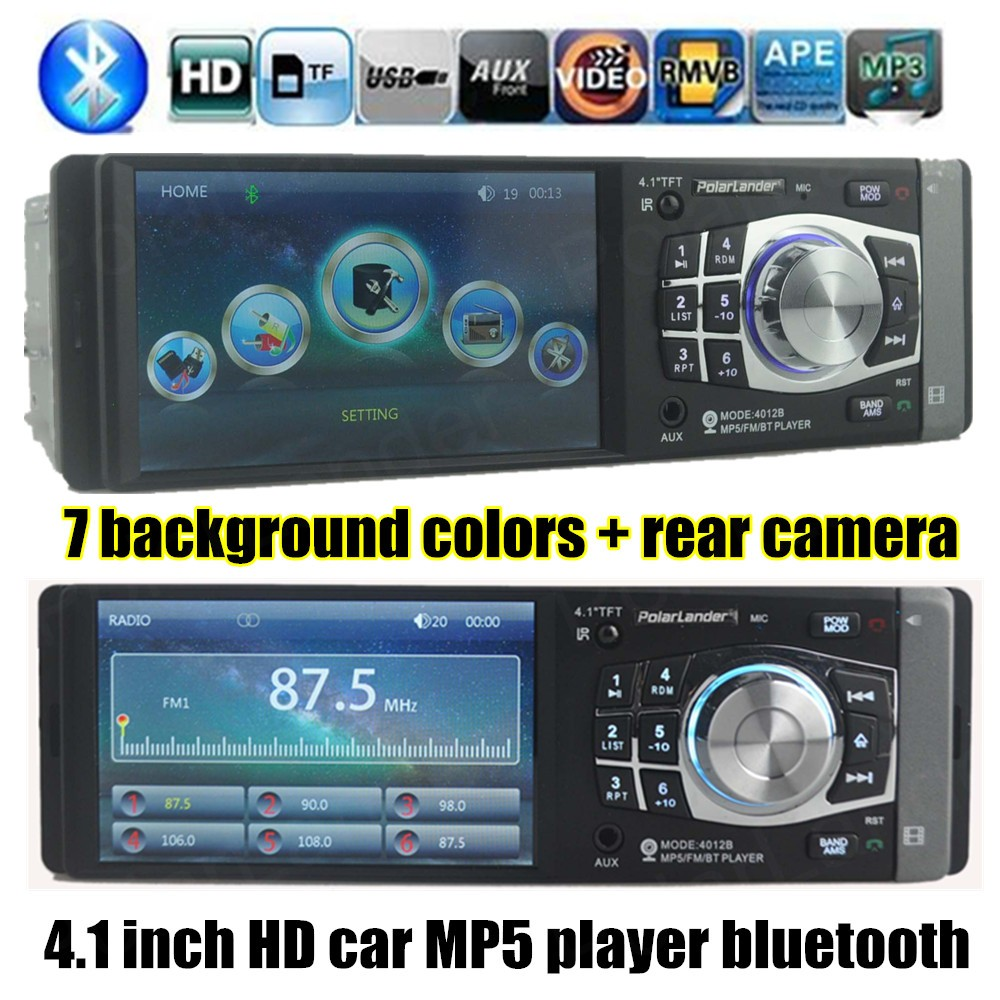 New 1 DIN 12V 1080P Support Rear Camera Car Radio bluetooth MP5 player Audio Stereo FM Built in Bluetooth USB/SD MMC In-Dash(China (Mainland))