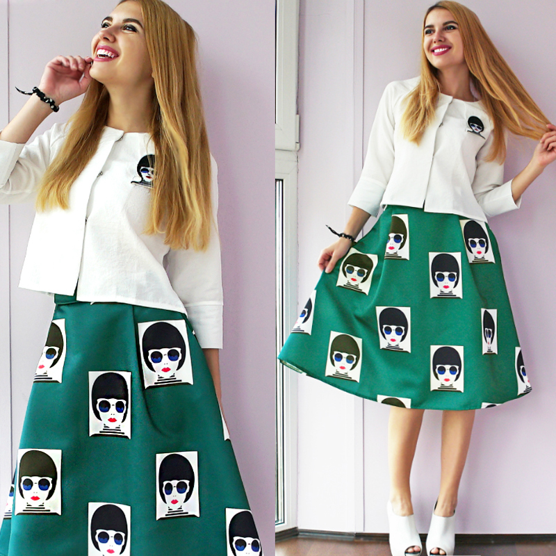 Amazing Piece Set Women Knitted Sweater And Skirts Sets Casual Plaid Women