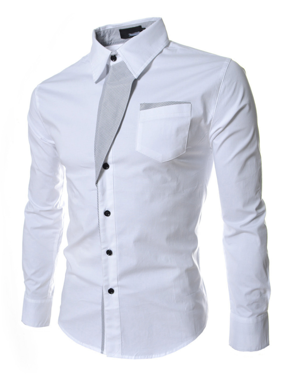 Top sale mens stylish casual shirt spring men long sleeve for Wedding dress shirts for men