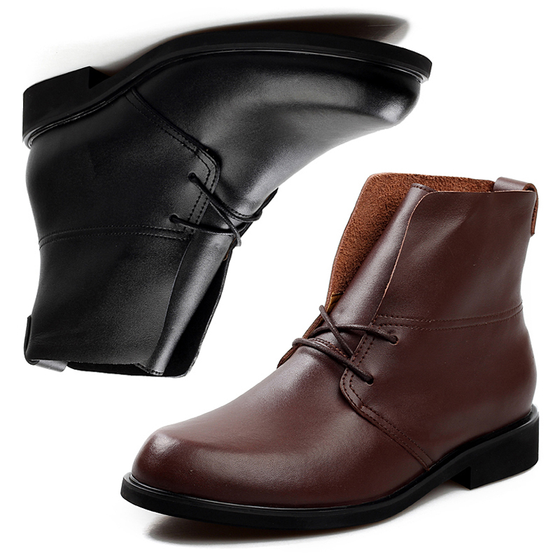 free shipping new 2014 winter mens boots formal black