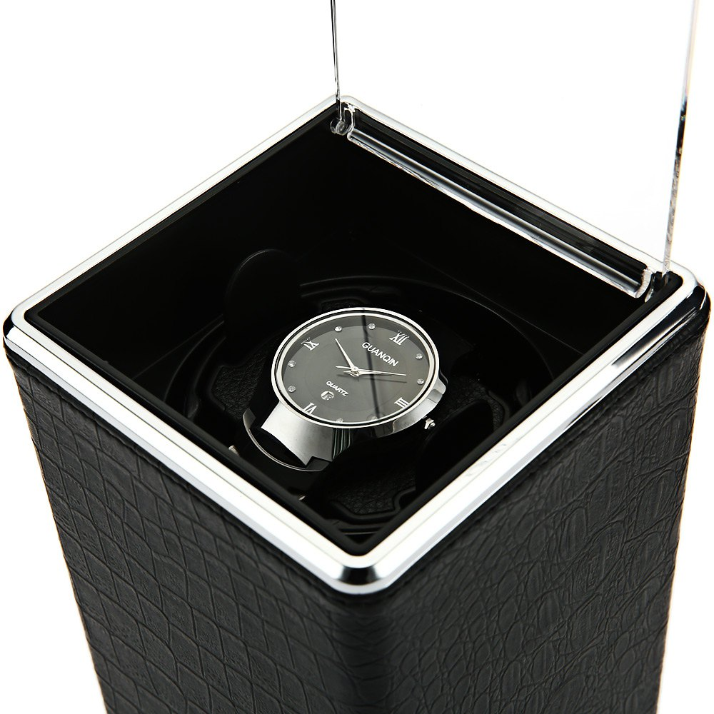 High Quality Rectangle Watch Winder Single Automatic Watch Winder Display Box Gifts Transparent Cover Watches Winders Caja Reloj(China (Mainland))