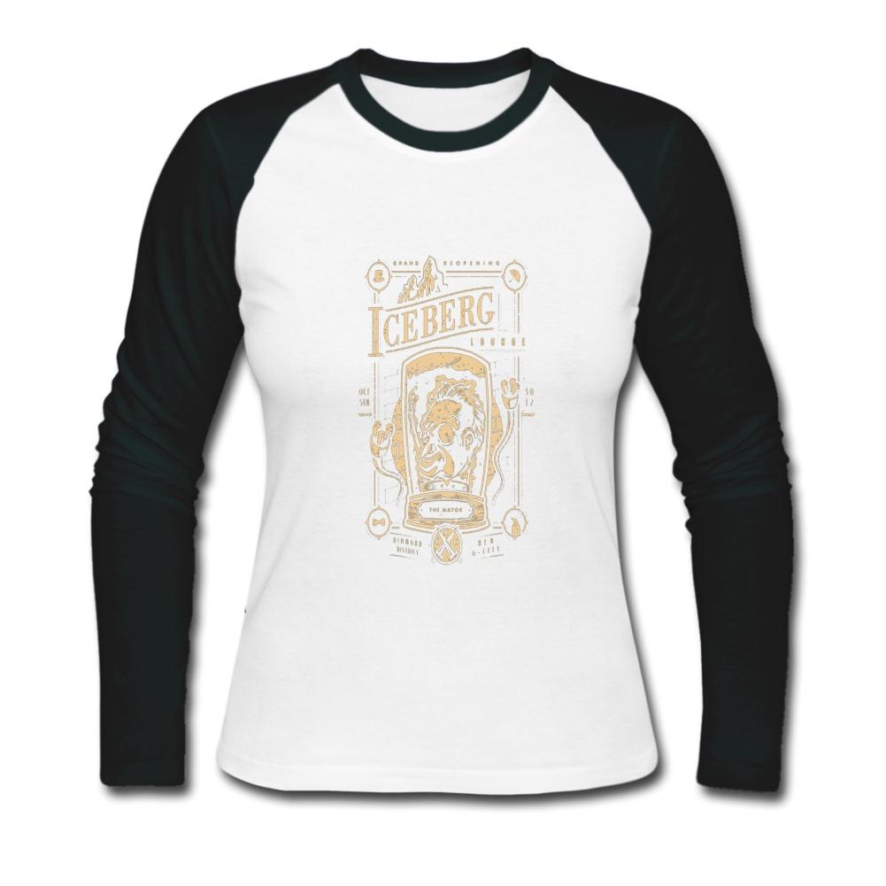 Womens long sleeve o neck fashion top bulk personalized for Personalized long sleeve t shirts