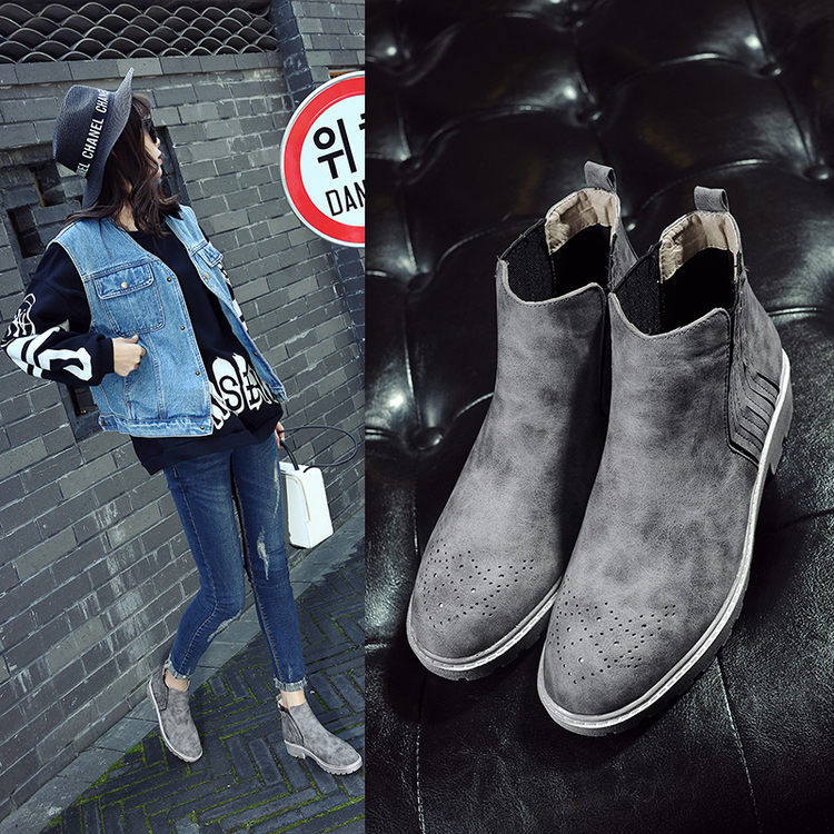 2016 NEW style Top quality 4 color euro 34-43 slp designer men shoes luxury brand Chelsea mens&women boots shoes(China (Mainland))