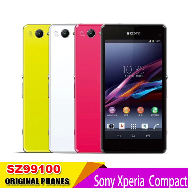 Original Sony Xperia Z1 Compact D5503 Unlocked Mobile Phones 16GB Quad Core 4.3 Inch Screen WIFI GPS 20.7MP(China (Mainland))