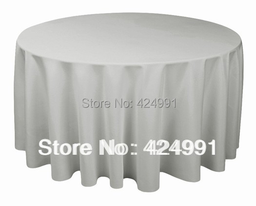 5pcs Top Quality Round polyester plain table cloth 300cm rund For Wedding &Hotel&Banquet(China (Mainland))