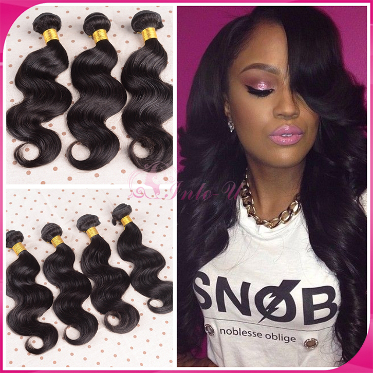 "Rosa Hair Products Malaysian Body Wave Human Hair Extension 3pcs/lot Cheap Natural Black Malaysian Virgin Hair 8""-30 Hair Weaves(China (Mainland))"