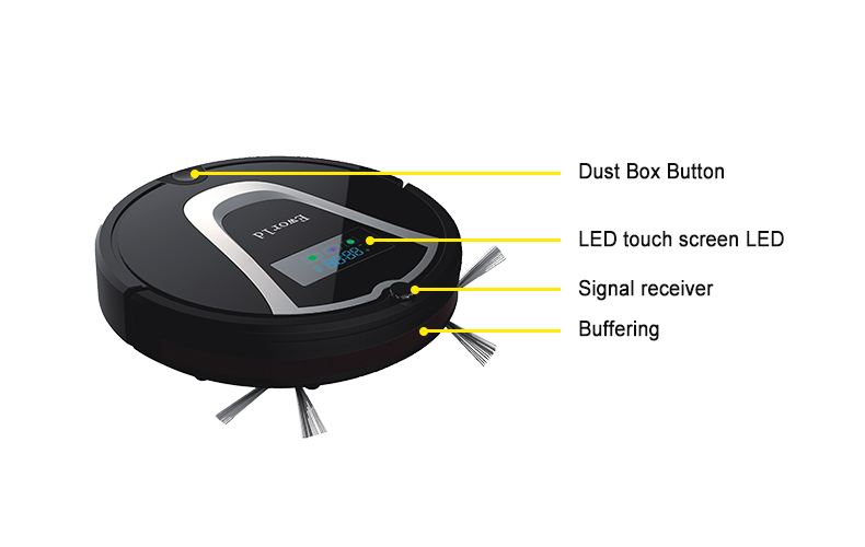 Eworld M884 Intelligent Robot Vacuum Cleaner for Home Slim, HEPA Filter,Cliff Sensor,Remote control Self Charge ROBOT Sweeper(China (Mainland))