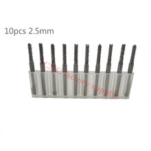 Buy Hot sale10pcs PCB milling cutter 2.5mm fish tail milling cutter corn milling cutter tungsten carbide mini end mill engraving CNC for $10.40 in AliExpress store