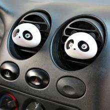 2pcs car-styling Panda Car Perfumes 100 original 5ml Solid Air Freshener OEM Air Conditioning Vent Flavoring In the Car parfums(China (Mainland))