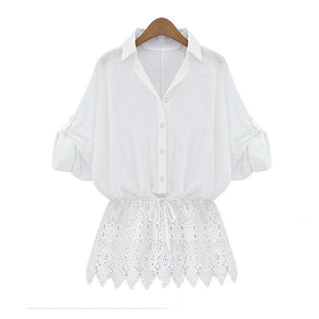 White Blouse Plus 6