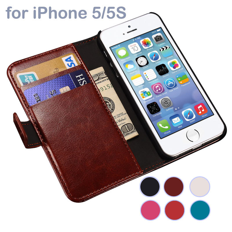 Luxury Retro Wallet PU Leather Case for Apple iPhone 5 5S SE Fundas Phone Cover For iPhone5 Flip Stand Capa Coque with Card Slot(China (Mainland))