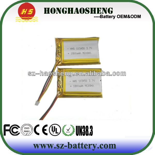 Factory Direct low-cost high- high cycle life rechargeable lithium polymer battery 103450(China (Mainland))