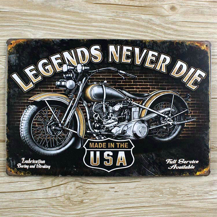 made in usa for motorcycle vintage home decor LLBT0051 metal Tin signs for bar vintage decorative plates metal poster 20x30cm