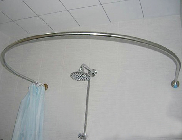 Steel round u shaped curved shower curtain rod shower curtain rod
