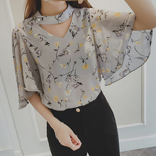 2016 spring summer style sexy chiffon Blouses vintage loose Hollow Out big sizes shirt women tops Shirts clothes for women blous