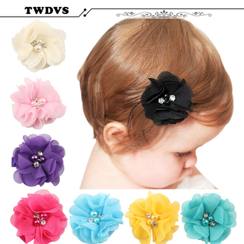 TWDVS New Baby Scrunchces Hair Clips Girls Headdress Accessories Hairpins Infant Toddler Hairpins Baby Flower Headband  W--211