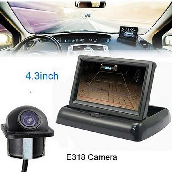 """Fold 4.3"""" LCD Screen Parking Monitor Sensor DVD/GPS/TV Car Rear View Camera(China (Mainland))"""