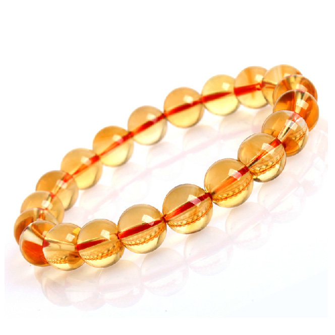 Package mail authentic top natural topaz dark topaz Fashion classic collection level female yellow crystal bracelet<br><br>Aliexpress
