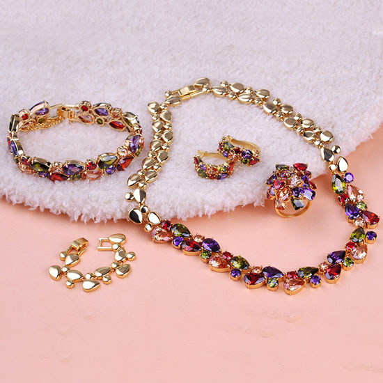 Europe Mona Lisa Colares Noiva Wedding Jewelry Sets Pendants Necklaces &amp; Brincos Ring O Wedding Necklace Personality Women Unhas<br><br>Aliexpress