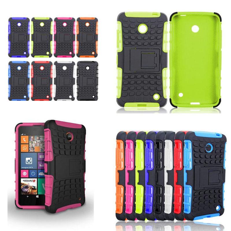 Fashion New Hybrid Armor Rugged Hard Case Cover Stand Skin For Nokia Lumia 630 635 Sanwony Hot(China (Mainland))