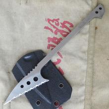 EDCgear Fishing Knife EDC Outdoor Survival Hunting Knife Full Serrated Spear Gun Black Sheath Lanyard E-BS