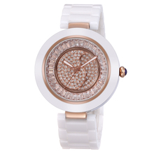 WEIQIN Ceramic Women Watches Luxury High Quality Water Resistant Montre Femme 2016 White Dress Woman Rhionestone Wrist Watches