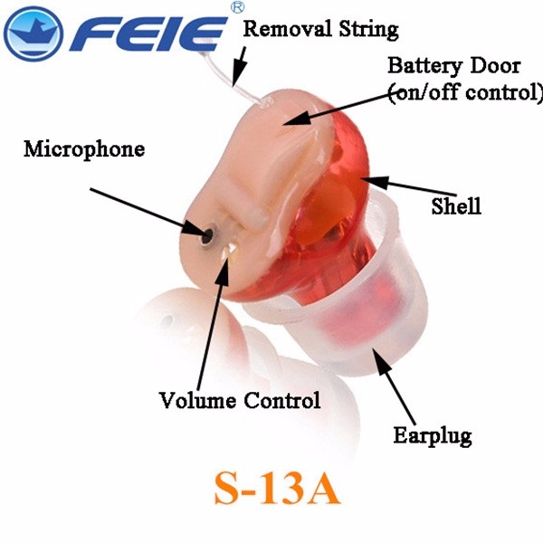 Completely Invisible In The Canal Digital Hearing Aid S-13A shipping for free