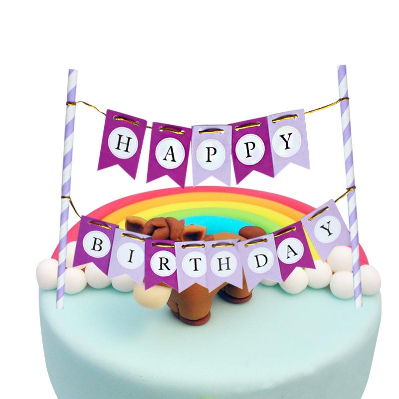 cake flags Happy Birthday Cupcake Cake Topper picks favors supplies Anniversary Decoration christmas(China (Mainland))