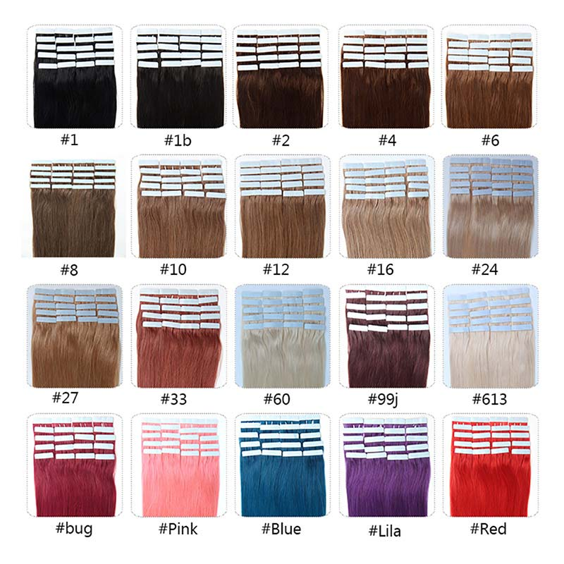 Adhesive Weft Hair Extensions 87